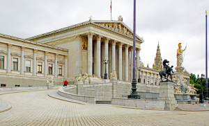 Lampedusa in Winter screening at Austrian Parliament