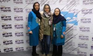 Anna Berthollet attending Cinema Verité in Iran